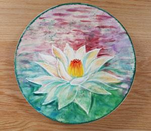 Colorado Springs Lotus Flower Plate