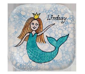 Colorado Springs Mermaid Plate