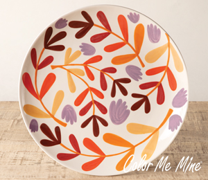 Colorado Springs Fall Floral Charger