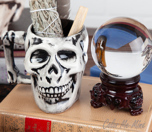 Colorado Springs Antiqued Skull Mug