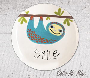 Colorado Springs Sloth Smile Plate