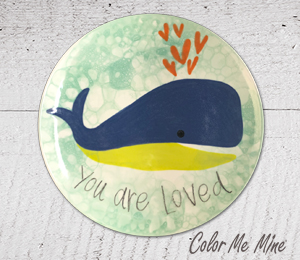 Colorado Springs Whale Love Plate