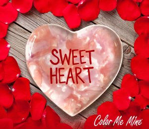 Colorado Springs Candy Heart Plate