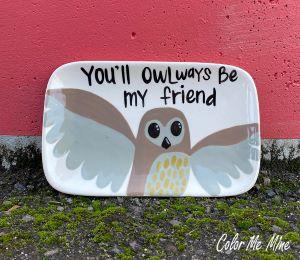 Colorado Springs Owl Plate