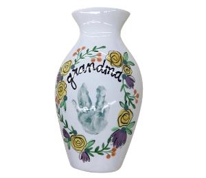 Colorado Springs Floral Handprint Vase