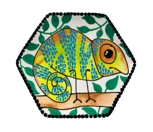 Colorado Springs Chameleon Plate