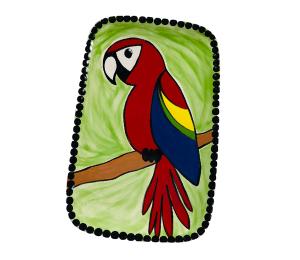 Colorado Springs Scarlet Macaw Plate